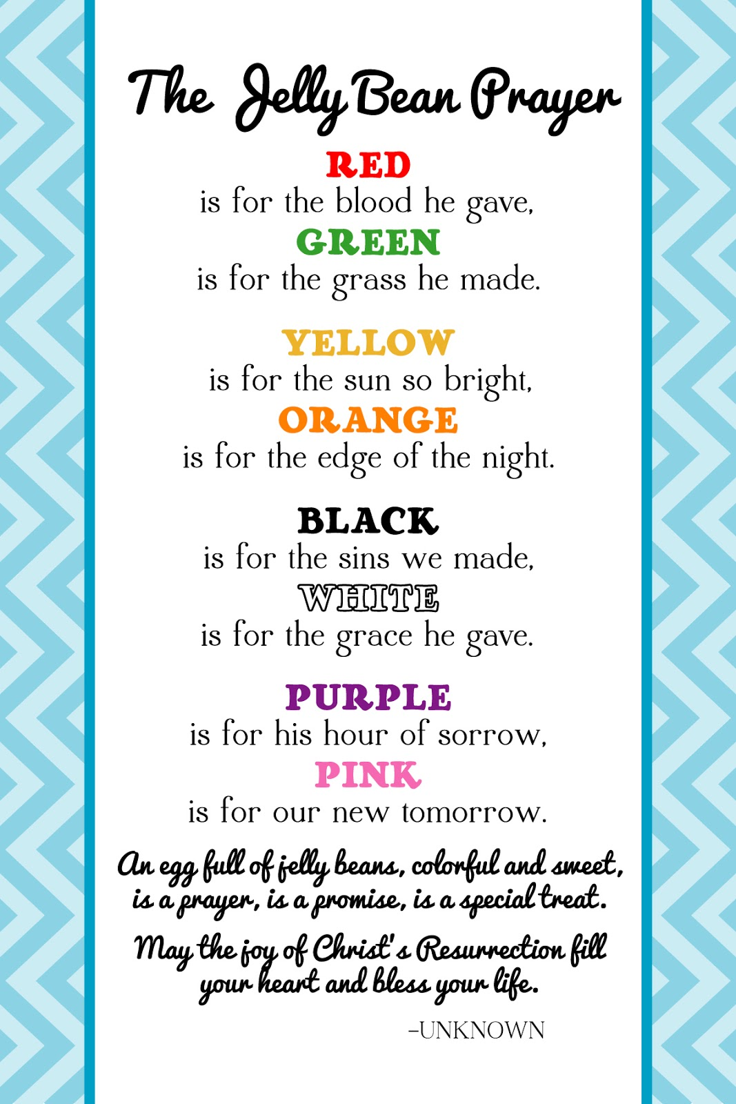The Creative World Of Great Day Graphics Amp Design Free Printable Jelly Bean Prayer For Easter