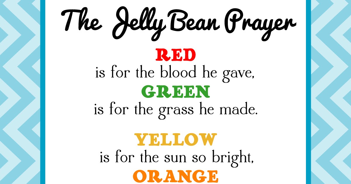 The Creative World Of Great Day Graphics Design Free Printable Jelly Bean Prayer For Easter