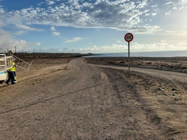 Fuerteventura.- Puerto del Rosario reabre al tráfico los caminos de tierra hacia el antiguo Parador y el de Puerto Lajas