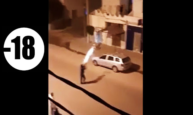 Hitting people with gas bombs in their own houses!