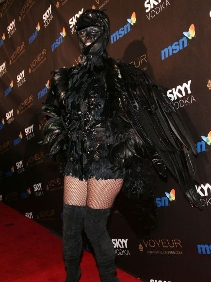 In 2009 Heidi flew into her Halloween party as a black raven wearing black boots and mesh stockings and a complete black feather costume with even a beak ... : intricate halloween costumes  - Germanpascual.Com