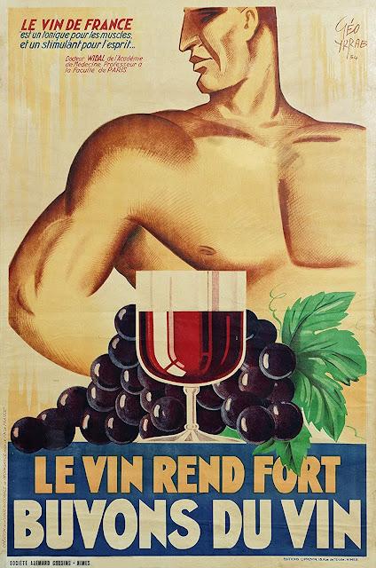 """""""Le vin rend fort. Buvons du vin"""" poster - Docteur Widal"""