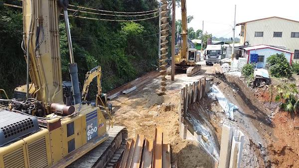 彰化三芬路邊坡崩塌搶修 縣府工務處完成防颱整備