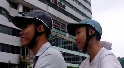 Cap Helmet wear by Vietnamese