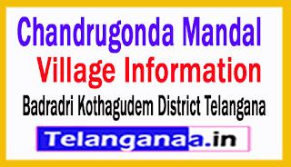 Chandrugonda Mandal Villages in Badradri Kothagudem District Telangana