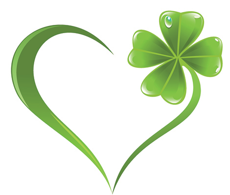 Clover heart emoticon