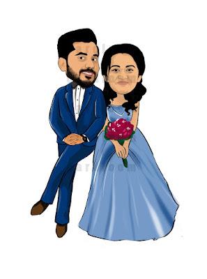 wedding Couples Caricature