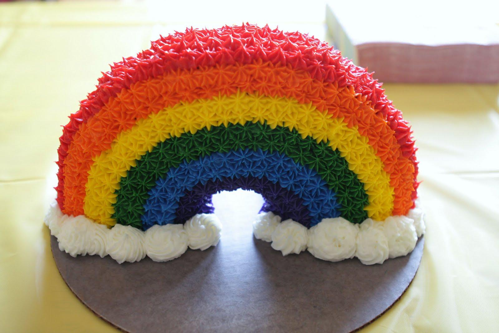 Rainbow Shaped Cake Recipe