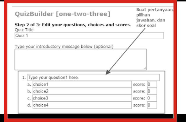 cara cepat dan mudah membuat soal online di blog
