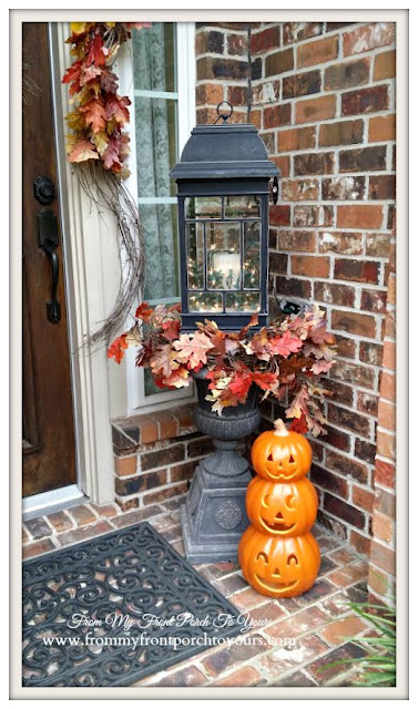 Fall Lantern-Fall Front Porch- From My Front Porch To Yours