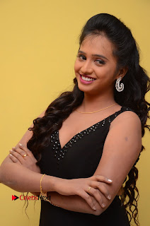 Actress Nakshatra Pictures in Black Long Dress at Miss South India 2016 Press Meet  0015.jpg