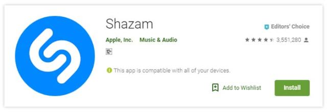 Shazam – Aplikasi Streaming Musik