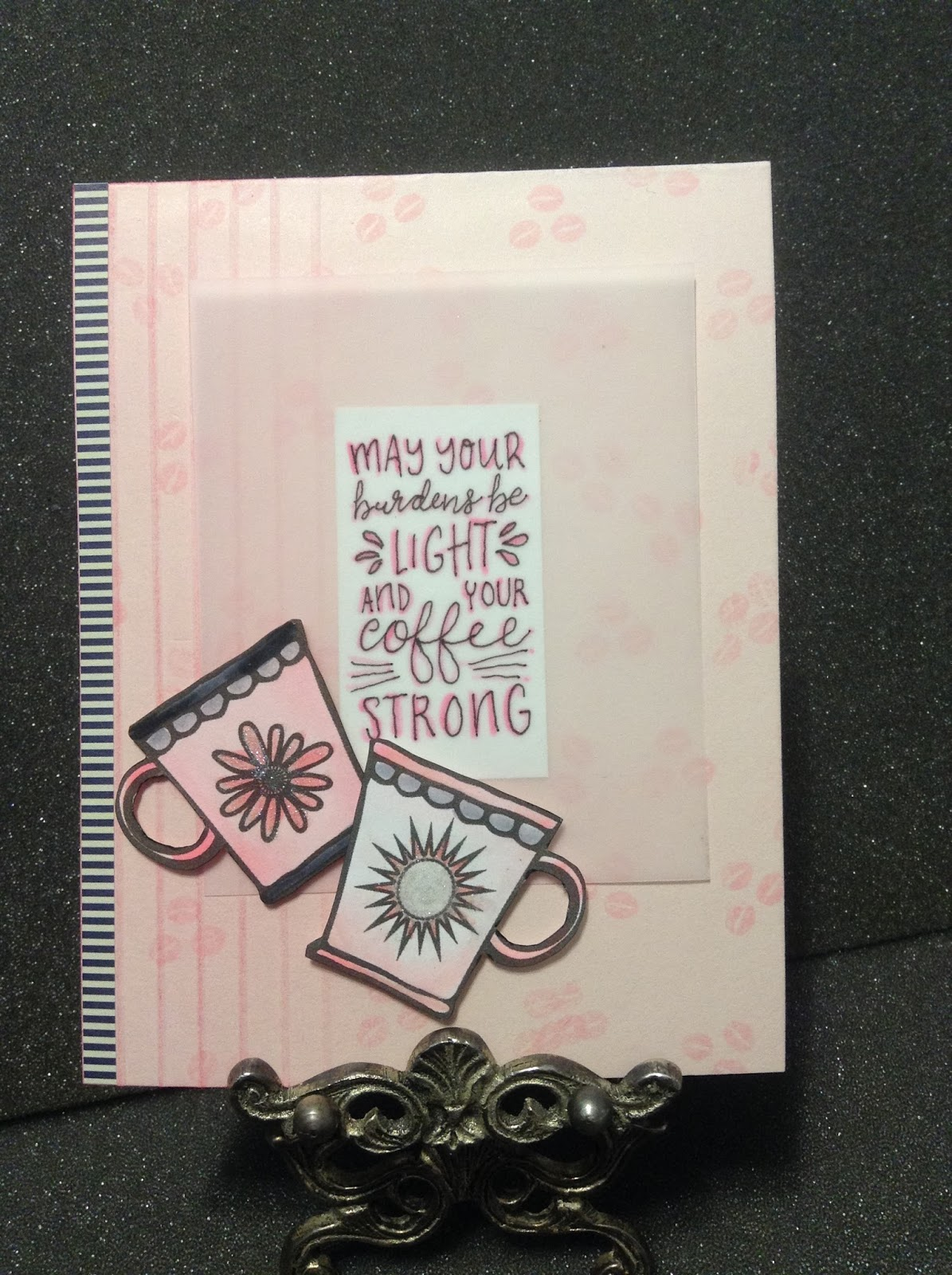 paperarts cafe: inspirational card for a coffee lover