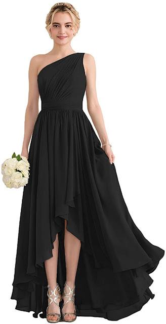 Cheap Black Chiffon Bridesmaid Dresses