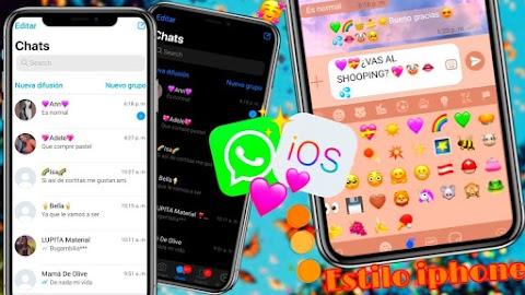 descargar la ultima versión de WhatsApp estilo iPhone IOS full