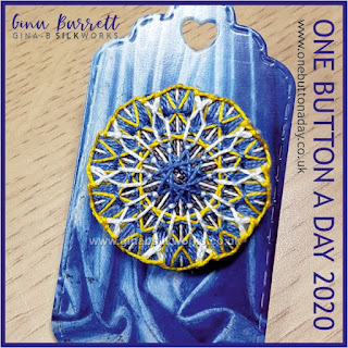 One Button a Day 2020 by Gina Barrett - Day 46 : Rose Window
