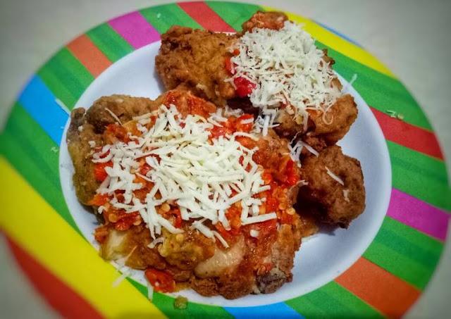 resep-ayam-geprek-bensu-keju-mozarella
