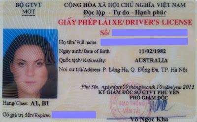 giấy phép lái xe thẻ nhựa PET
