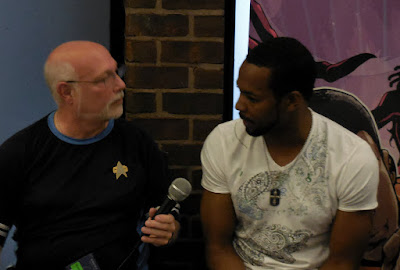Star Trek actor Anthony Montgomery being interviewed at Shore Leave 38