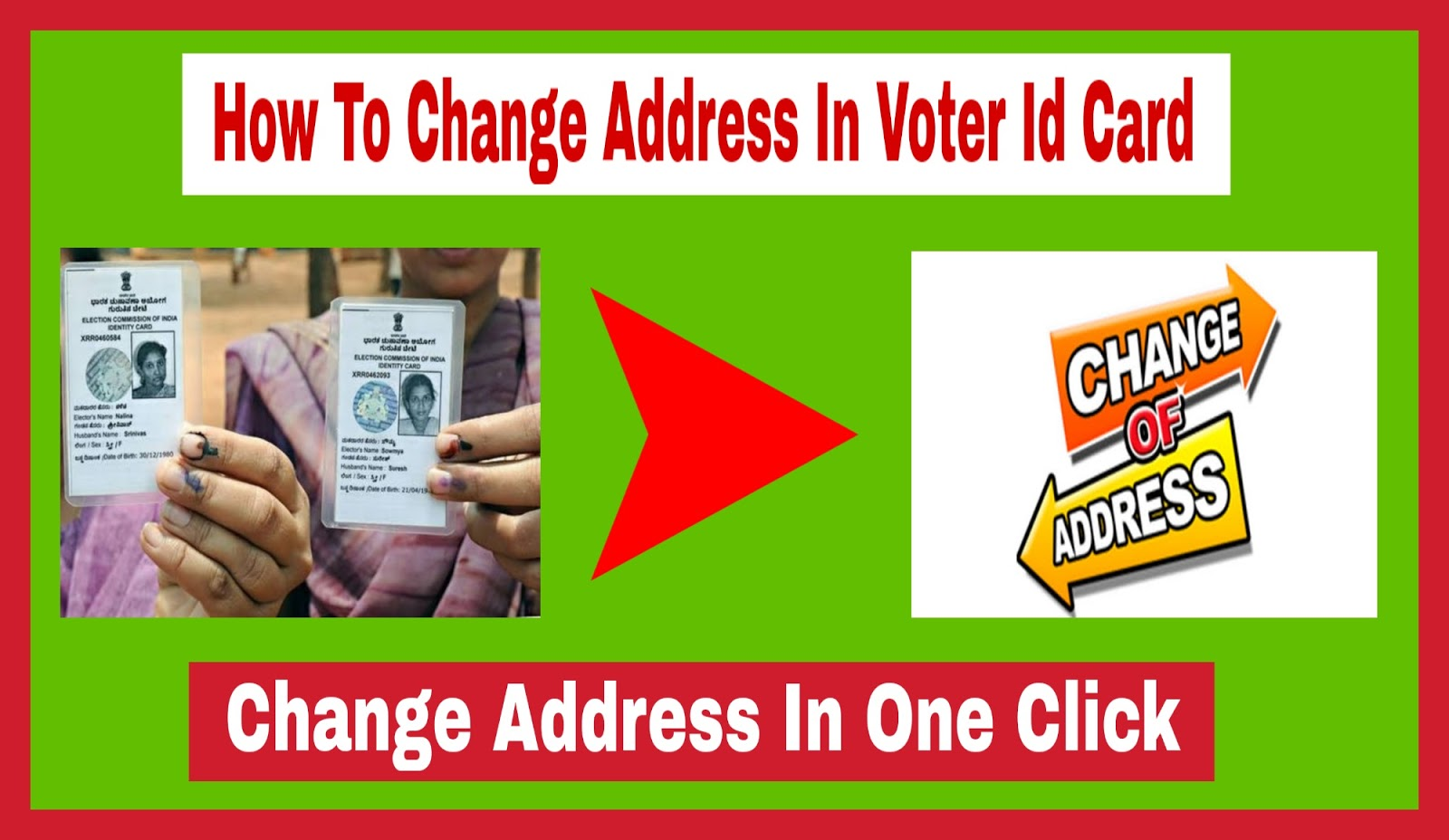 How to Change Address In Voter Id Card