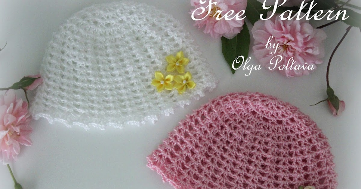 Lacy Crochet Preemie Girls Baby Hat Free Crochet Pattern