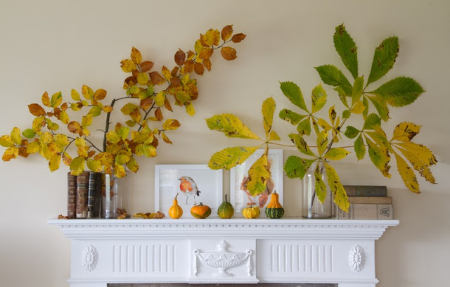 Botanical Fall Mantel