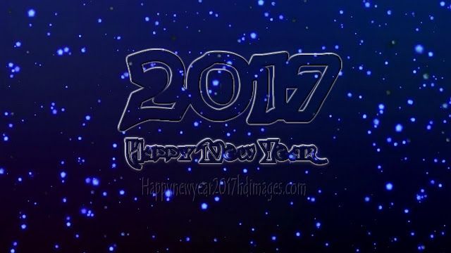 New Year 2017 Full HD Photos With Sparkling Background  Download Free