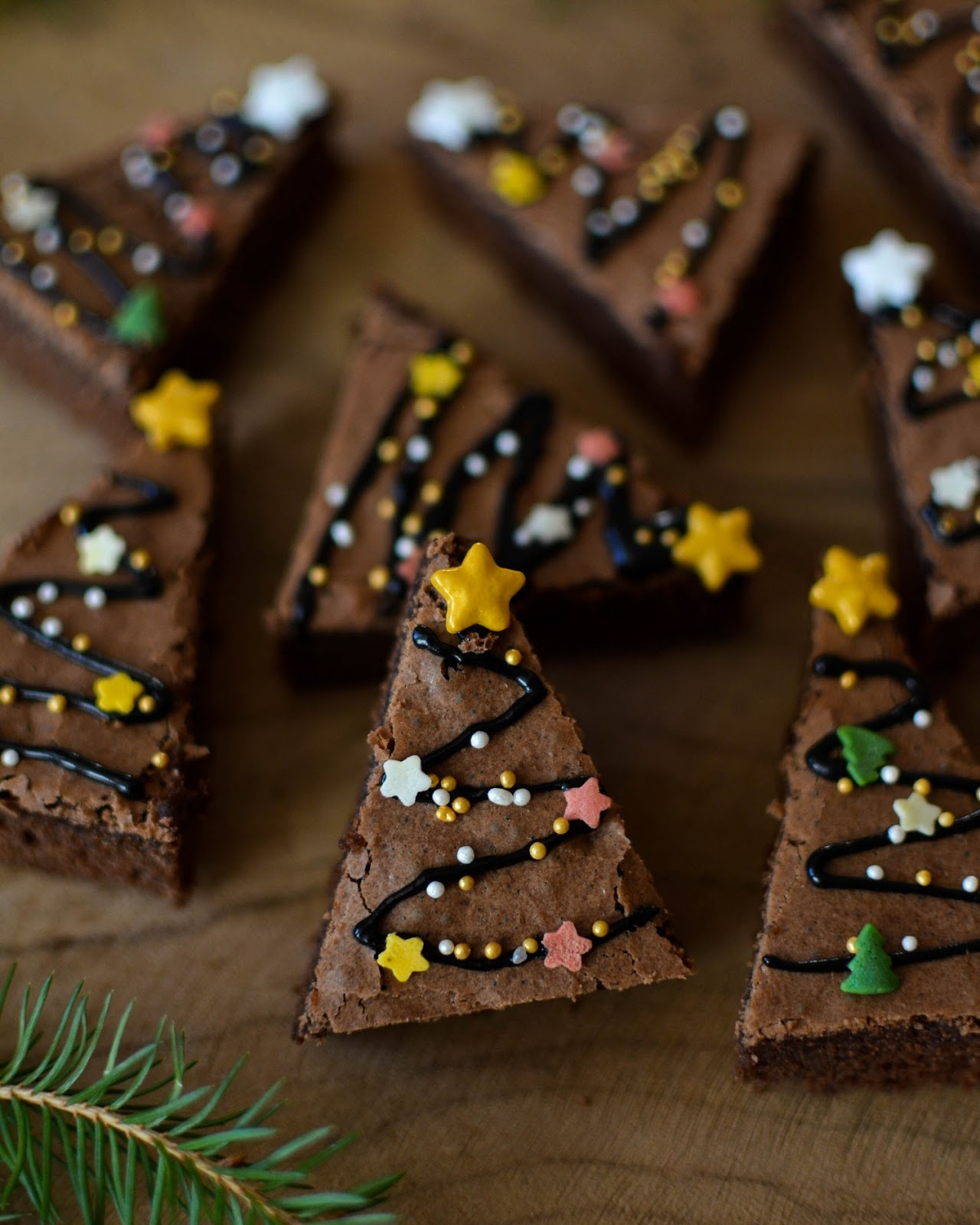Baking for Christmas: Christmas Tree Brownies