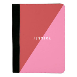 Gifting Padfolios for Mom - Red & pink padfolio with customizable text