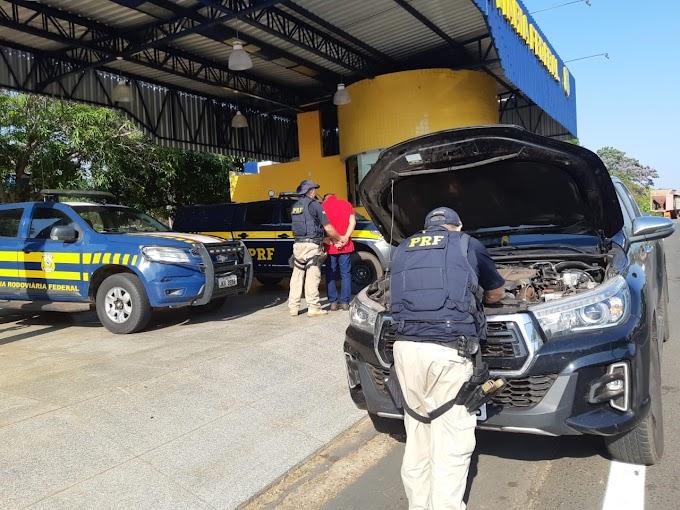 CAXIAS - Polícia Rodoviária Federal prende médico com Hillux clonada