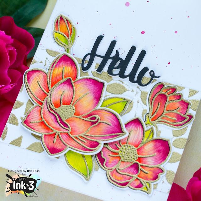 Hello Magnolia Friendship Card   Ink On 3