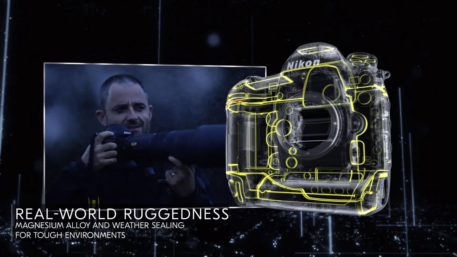 Схема расположения уплотнителей в Nikon D6