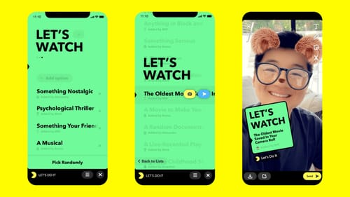Snap allows to use external applications directly inside Snapchat