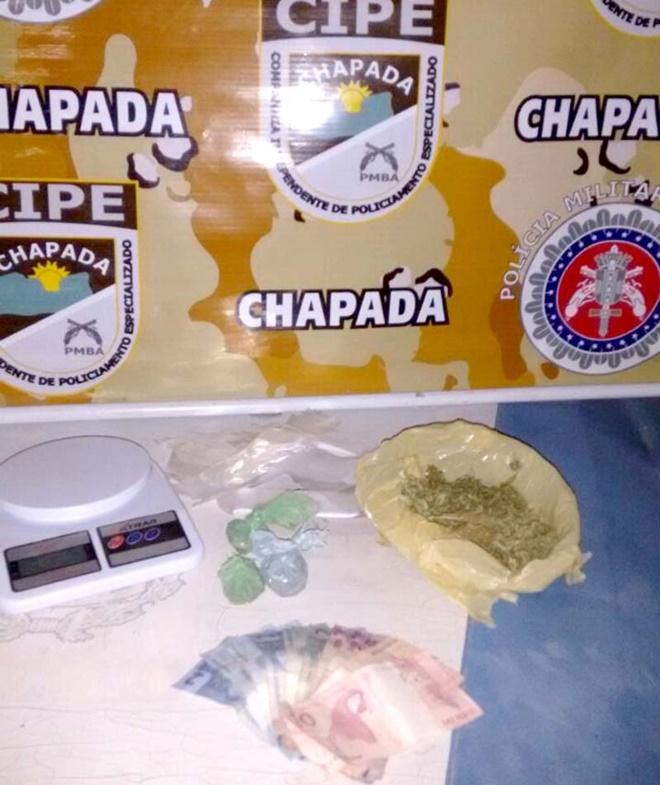 Cipe-Chapada Prende Traficante na cidade de Utinga