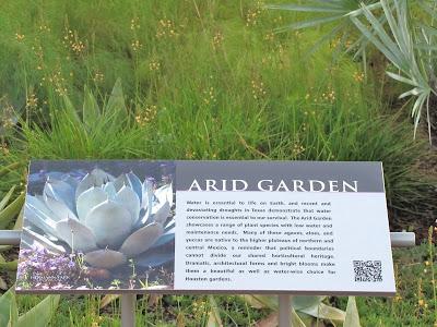ARID GARDEN explained - on-site educational poster