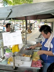 Chiam's fritter stall