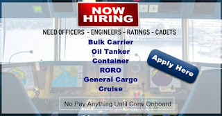 Seaman Jobs Hiring Crew For Tanker, Bulk Carrier, Container, RORO, General Cargo Ship