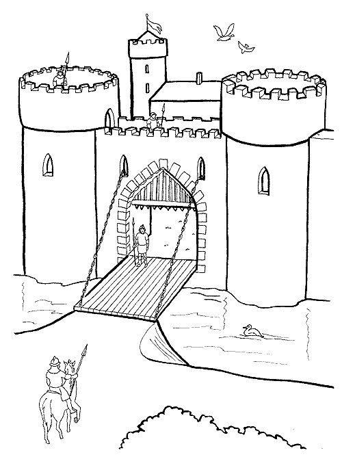Tranh cho bé tô màu lâu đài 0