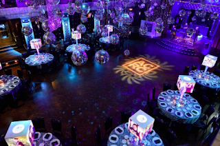 illuminated centerpieces for mitzvah decor