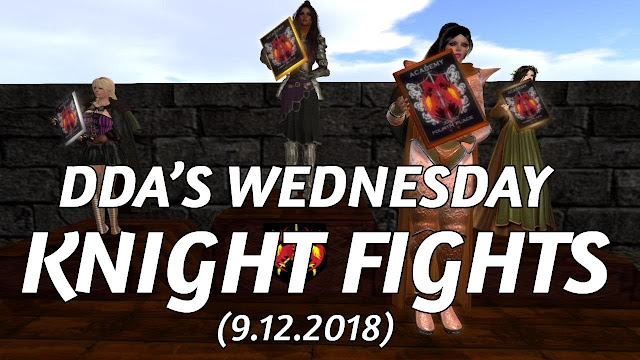 DDA'S WEDNESDAY KNIGHT FIGHTS In Second Life (9.12.2018) • Second Life Jousting