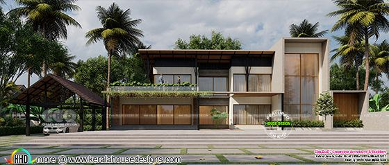 Tropical House Design with 5 bedrooms