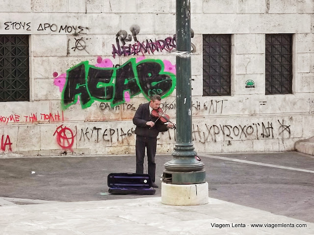 Cena urbana em Atenas