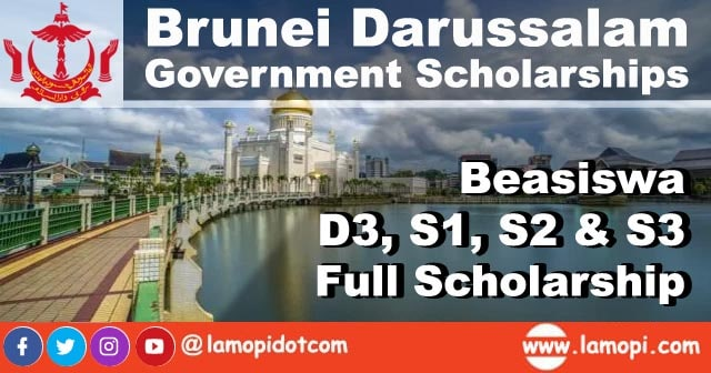 Beasiswa Penuh Brunei Darussalam D3, S1, S2, S3 2020 - 2021