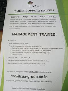 Lowongan Kerja Medan D3/S1 April 2020 PT Ciliandy Anky Abadi