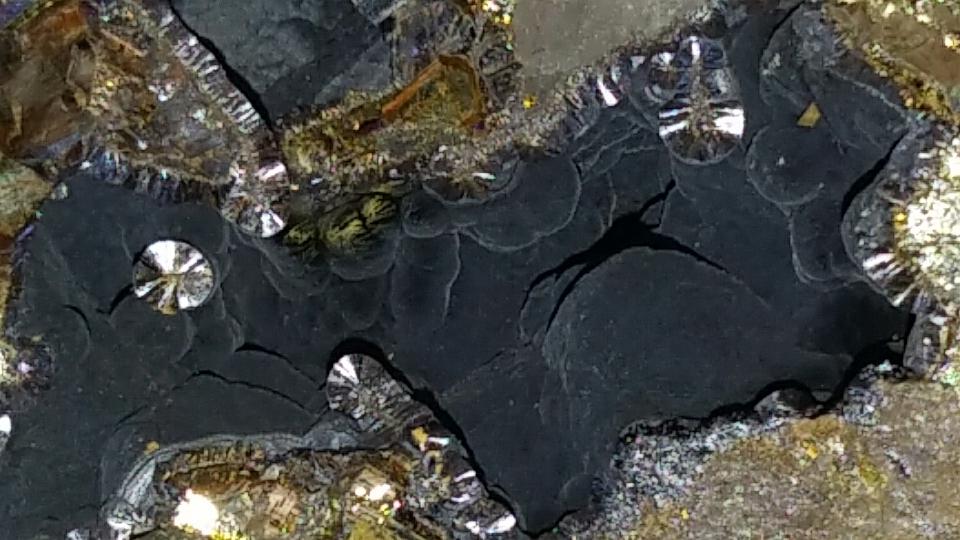 Asociaci n mineral gica aragonito azul dep sitos - Cantera de pizarra ...