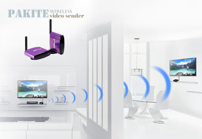 Wireless video Sender transmitter and receiver with IR Remote control