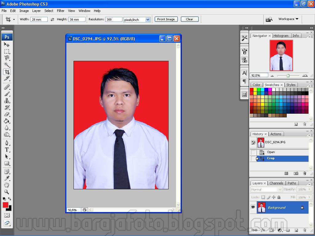 Cara Mudah Mengganti Background Pas Foto Belajar Photo