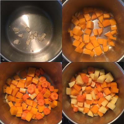 Crema de gambas con verduras