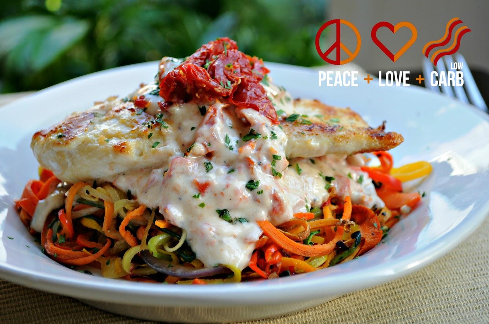 Rainbow vegetable noodles peace love and low carb - Recette low carb ...