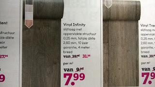 Leen Bakker vinyl vloerbedekking aanbiedingen